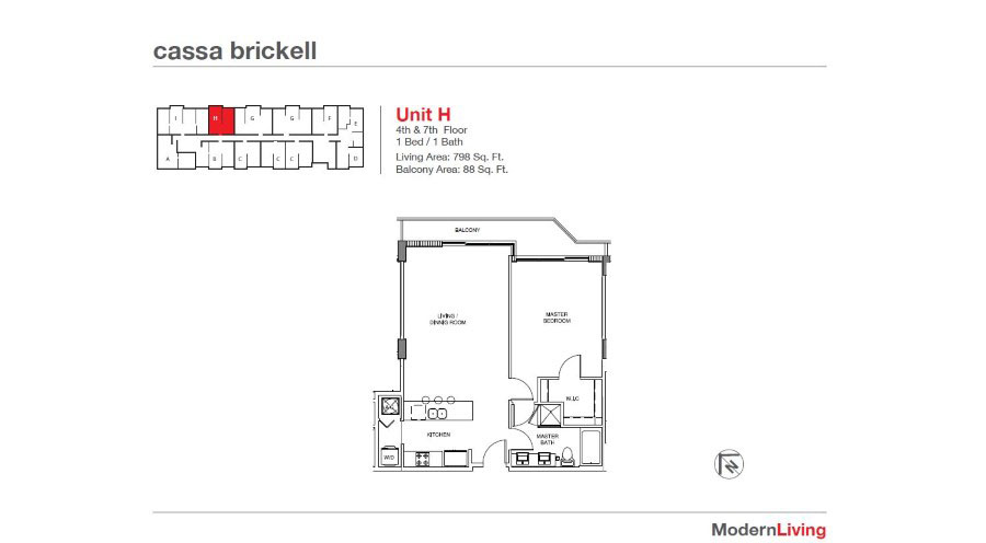 Cassa Brickell - Floorplan 19