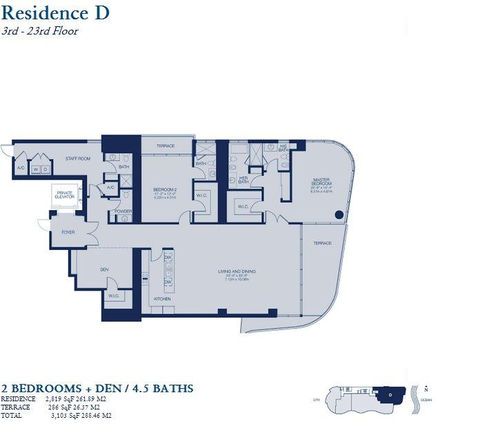 Chateau Beach Residence - Floorplan 2