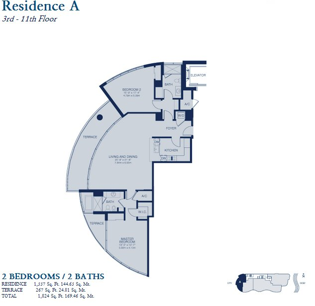 Chateau Beach Residence - Floorplan 1