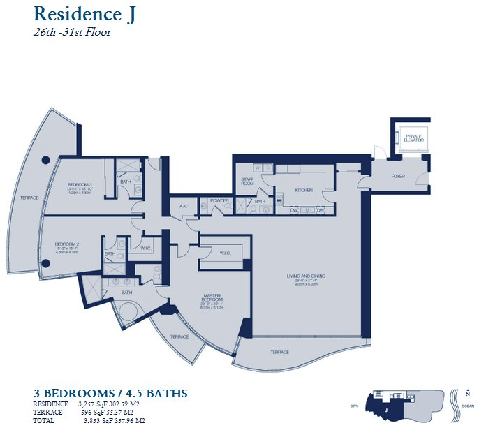 Chateau Beach Residence - Floorplan 3