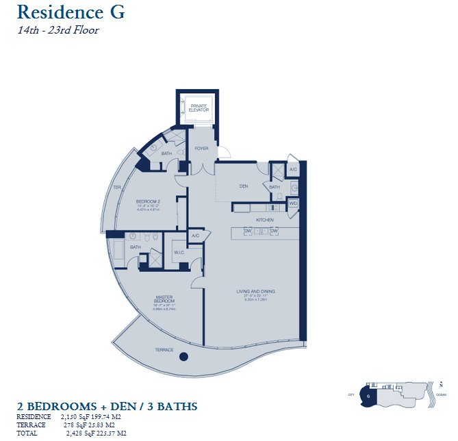 Chateau Beach Residence - Floorplan 4
