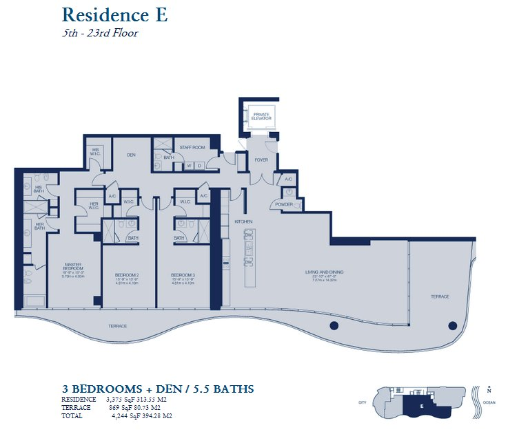 Chateau Beach Residence - Floorplan 5