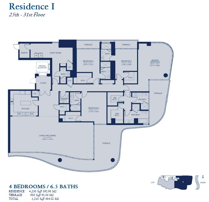 Chateau Beach Residence - Floorplan 6