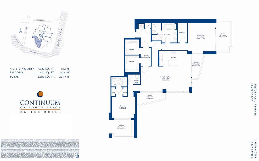 Continuum North - Floorplan 1