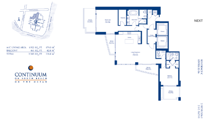 Continuum South - Floorplan 1