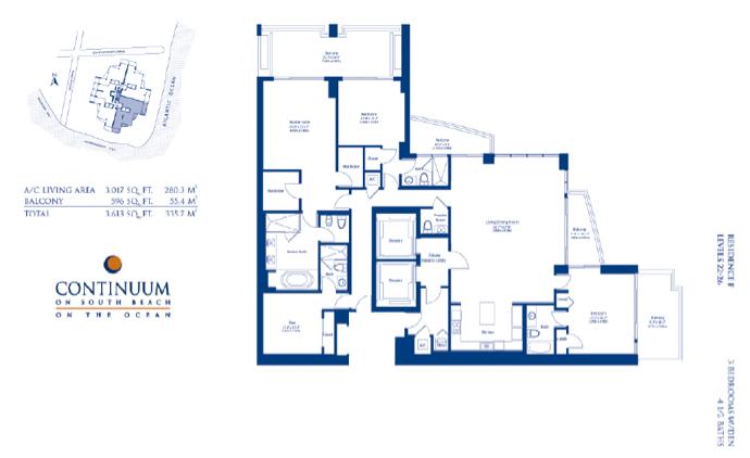 Continuum South - Floorplan 3