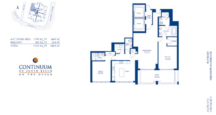 Continuum South - Floorplan 4