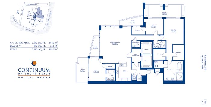 Continuum South - Floorplan 6