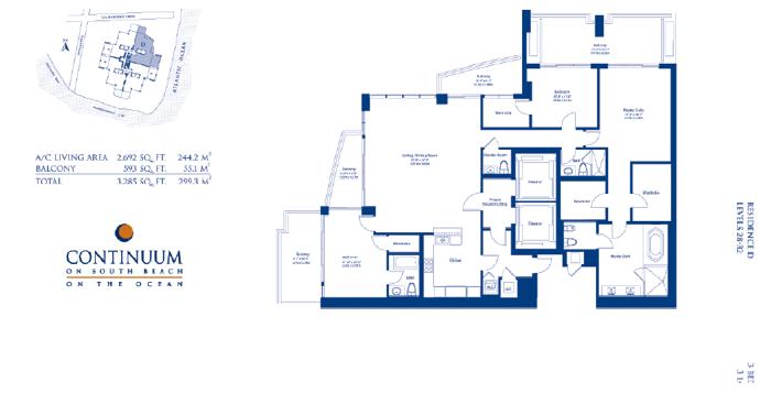 Continuum South - Floorplan 6