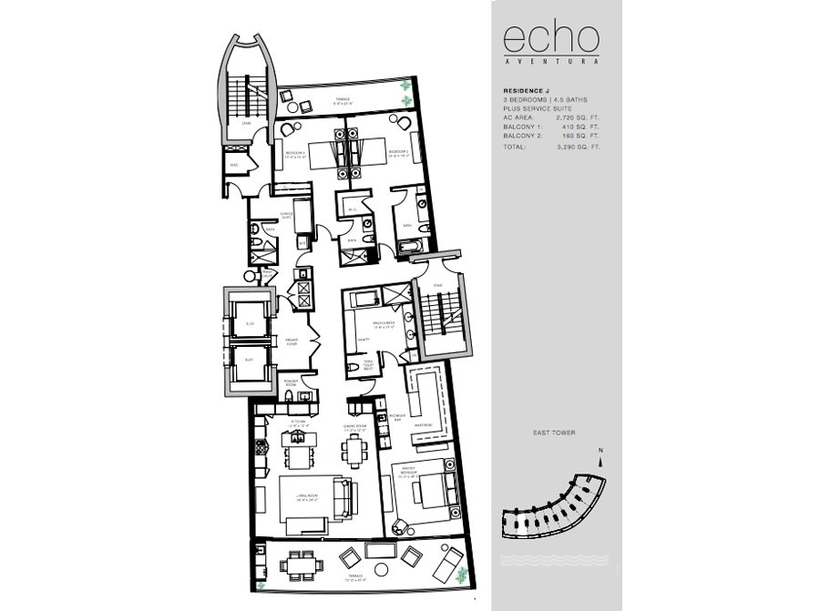 ECHO Aventura - Floorplan 1