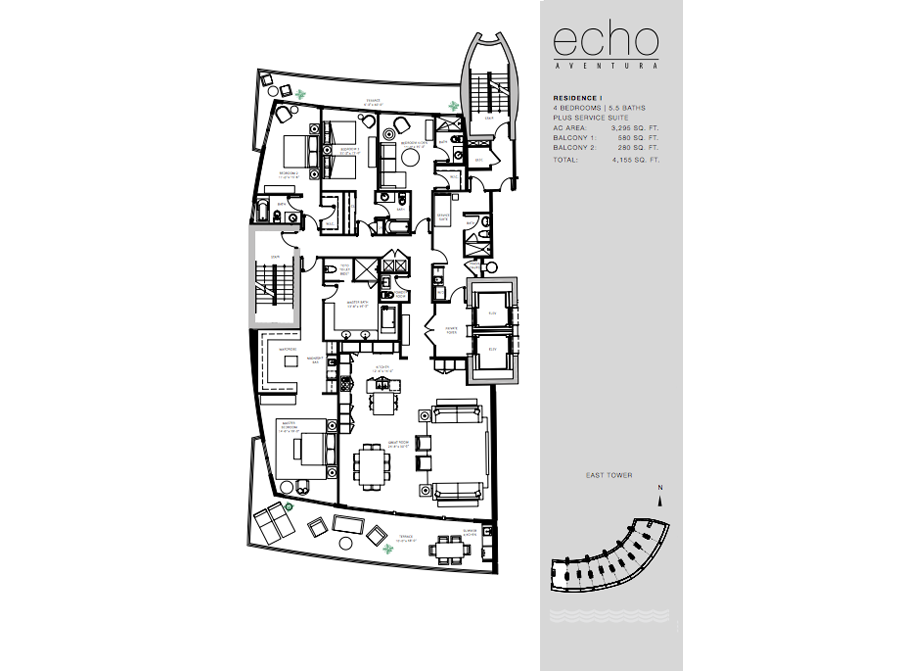 ECHO Aventura - Floorplan 2