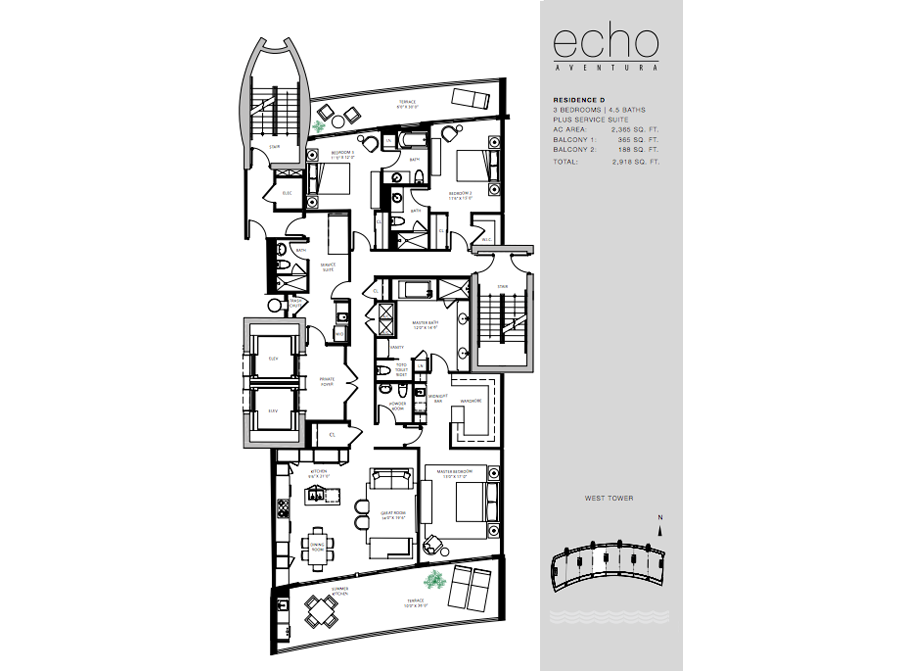 ECHO Aventura - Floorplan 3