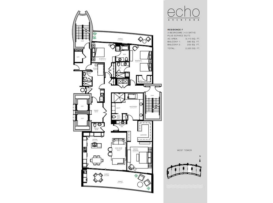 ECHO Aventura - Floorplan 4