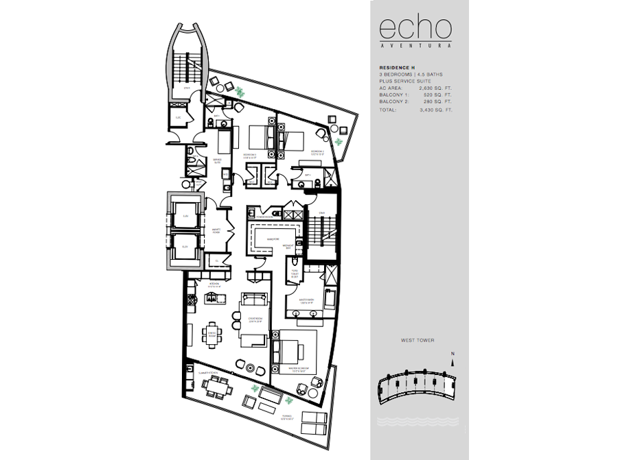 ECHO Aventura - Floorplan 5