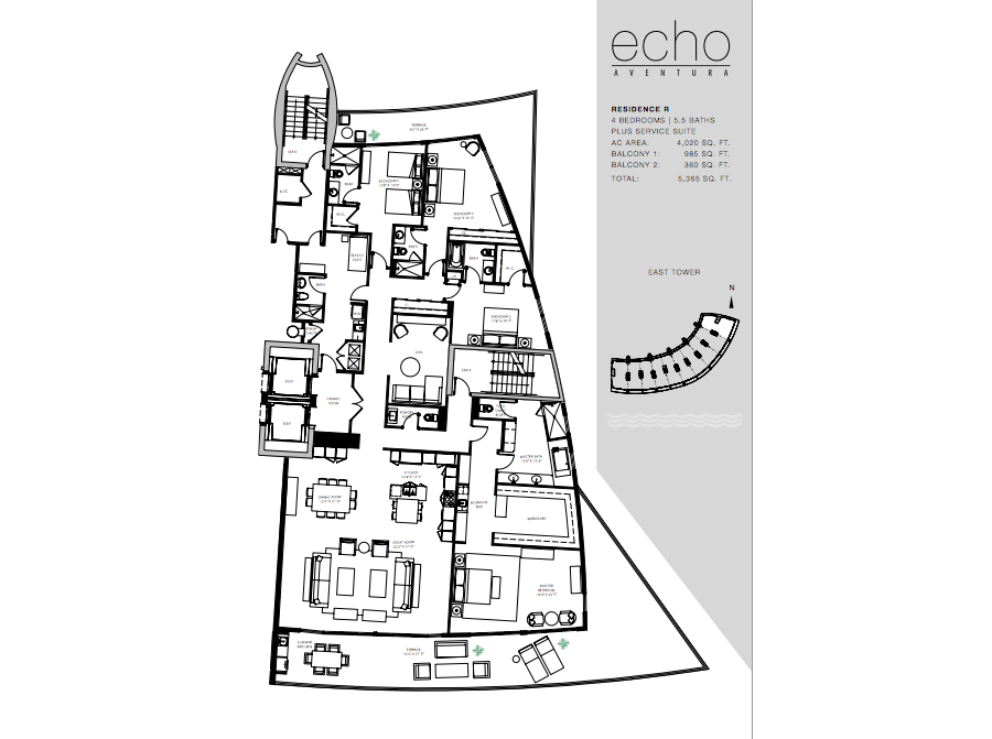 ECHO Aventura - Floorplan 6