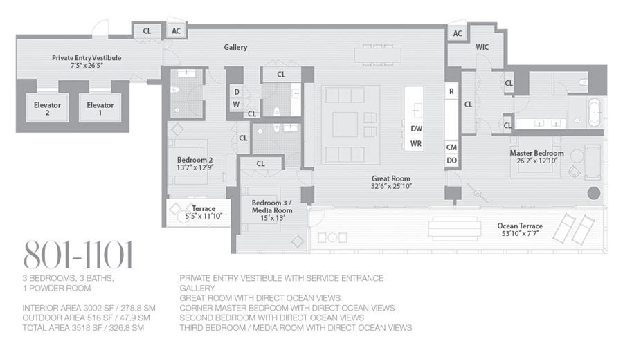 Edition Miami Beach Residences - Floorplan 2