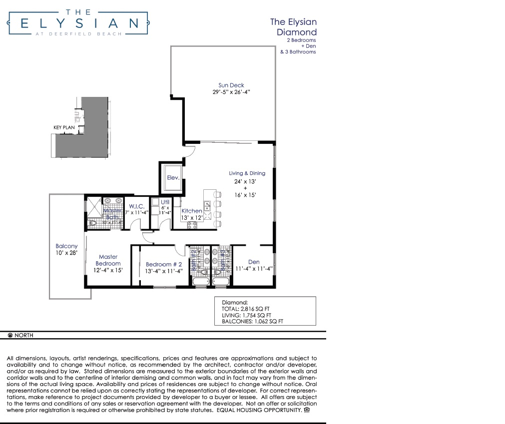 Elysian at Deerfield Beach - Floorplan 1