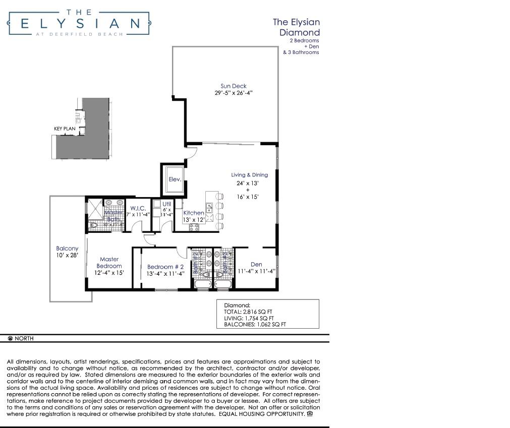 Elysian at Deerfield Beach - Floorplan 1