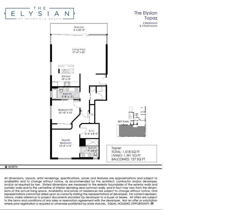 elysian at deerfield beach floorplan 3 - Deefield Park Homes Floor Plans