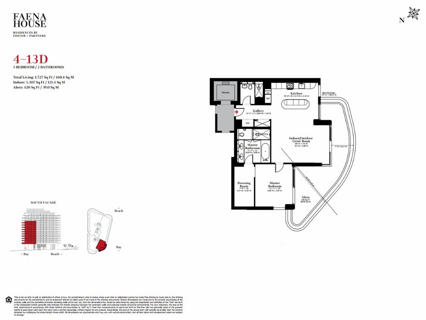 Faena House - Floorplan 1