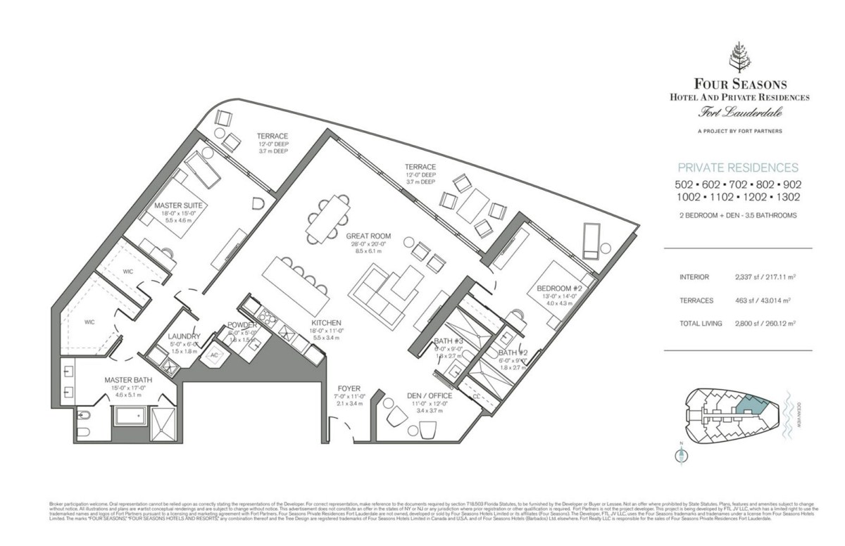 Four Seasons Hotel & Private Residences - Floorplan 1