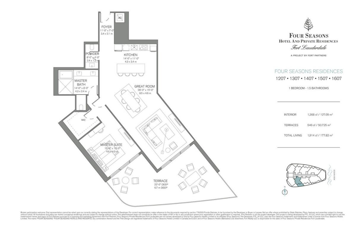 Four Seasons Hotel & Private Residences - Floorplan 7
