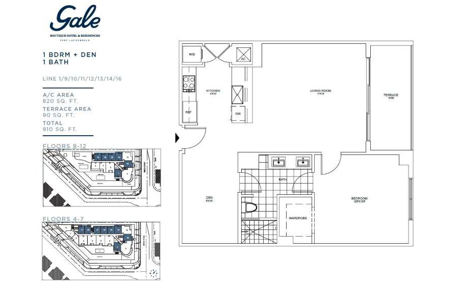 Gale Boutique Residences - Floorplan 1
