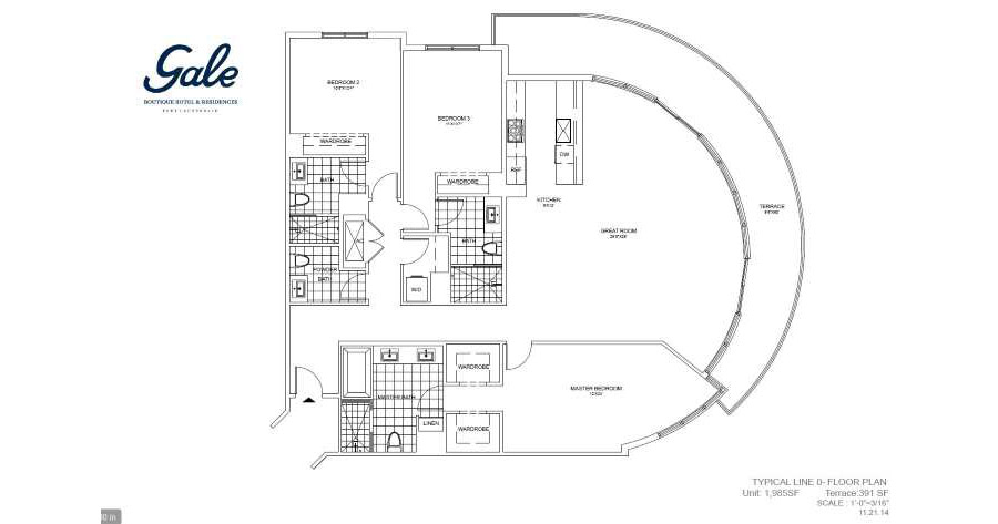 Gale Boutique Residences - Floorplan 3