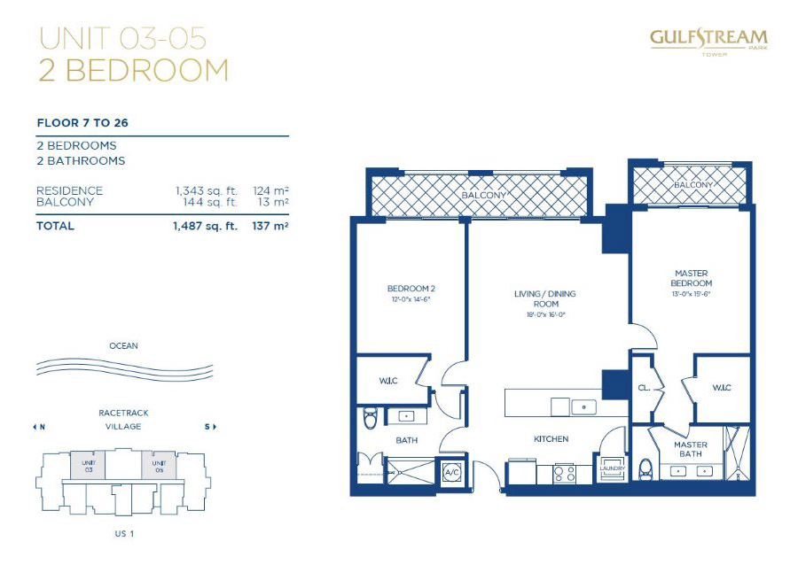 Gulfstream Park Tower - Floorplan 1