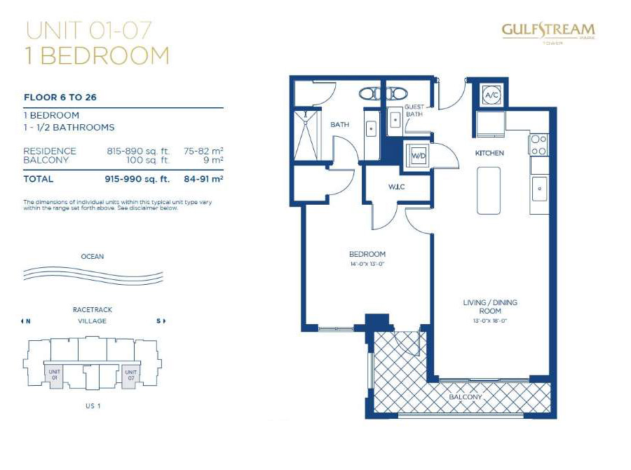 Gulfstream Park Tower - Floorplan 3