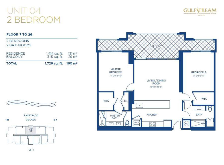 Gulfstream Park Tower - Floorplan 4