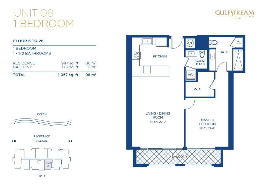 Gulfstream Park Tower - Floorplan 5