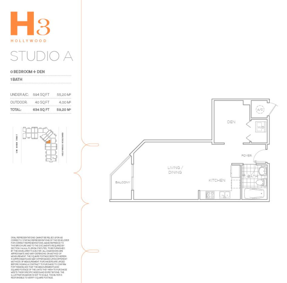 H3 Hollywood - Floorplan 1