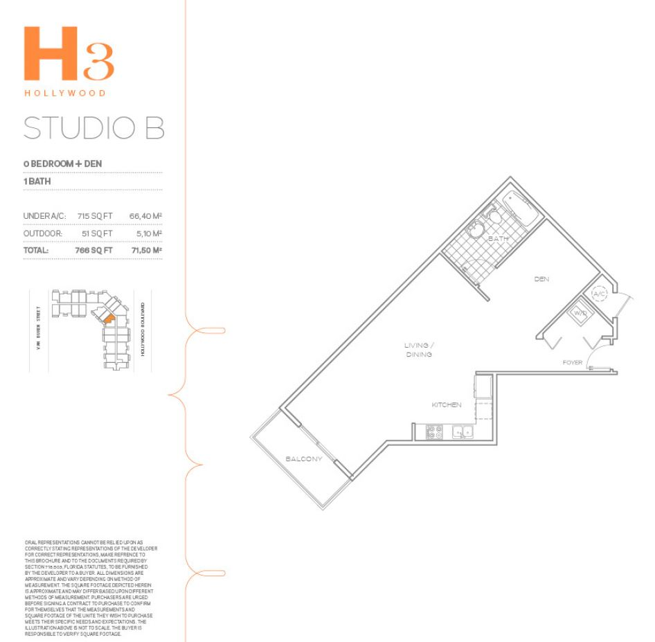 Hollywood East Apartments - Floorplan 2