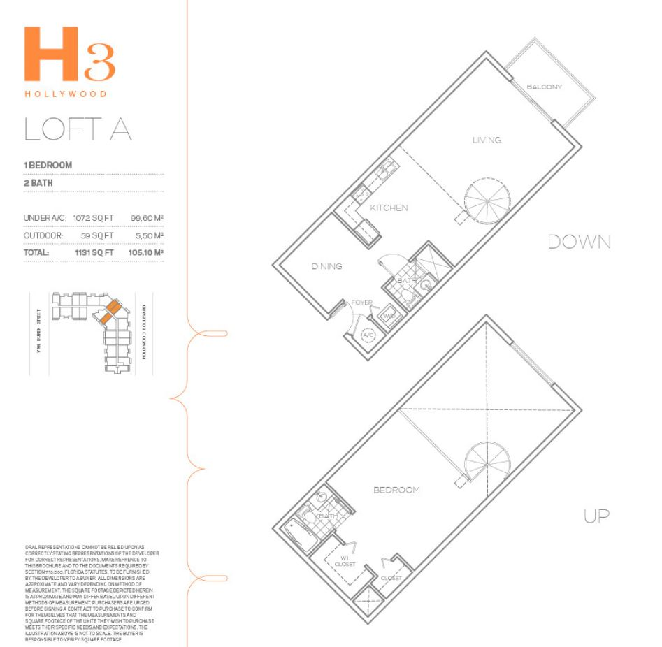 Hollywood East Apartments - Floorplan 3
