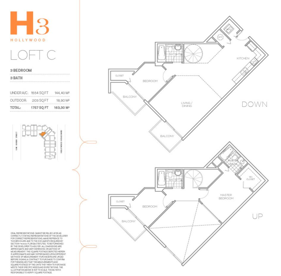 H3 Hollywood - Floorplan 4