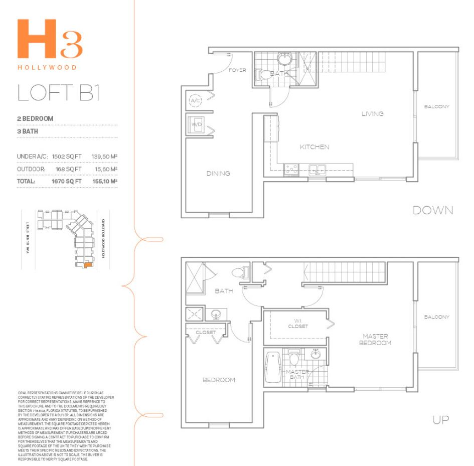 H3 Hollywood - Floorplan 5