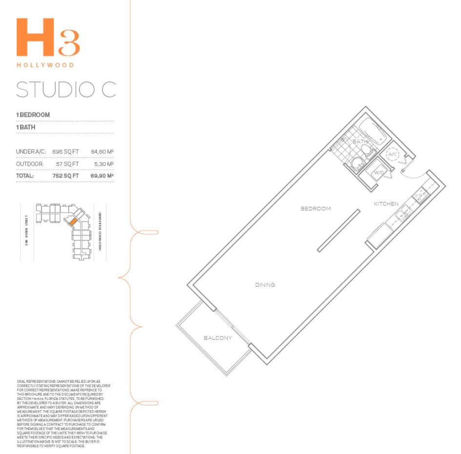 Hollywood East Apartments - Floorplan 7