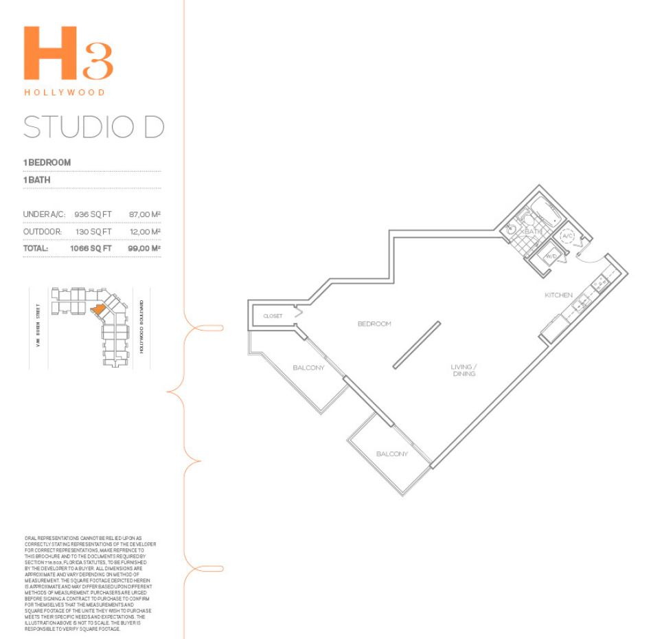 H3 Hollywood - Floorplan 9
