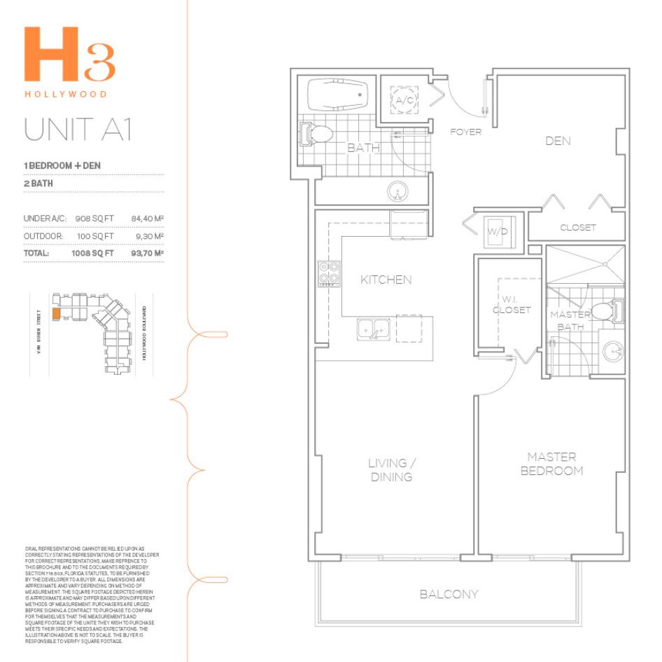 H3 Hollywood - Floorplan 13