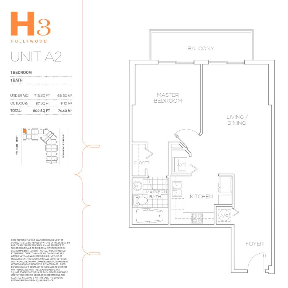 H3 Hollywood - Floorplan 14