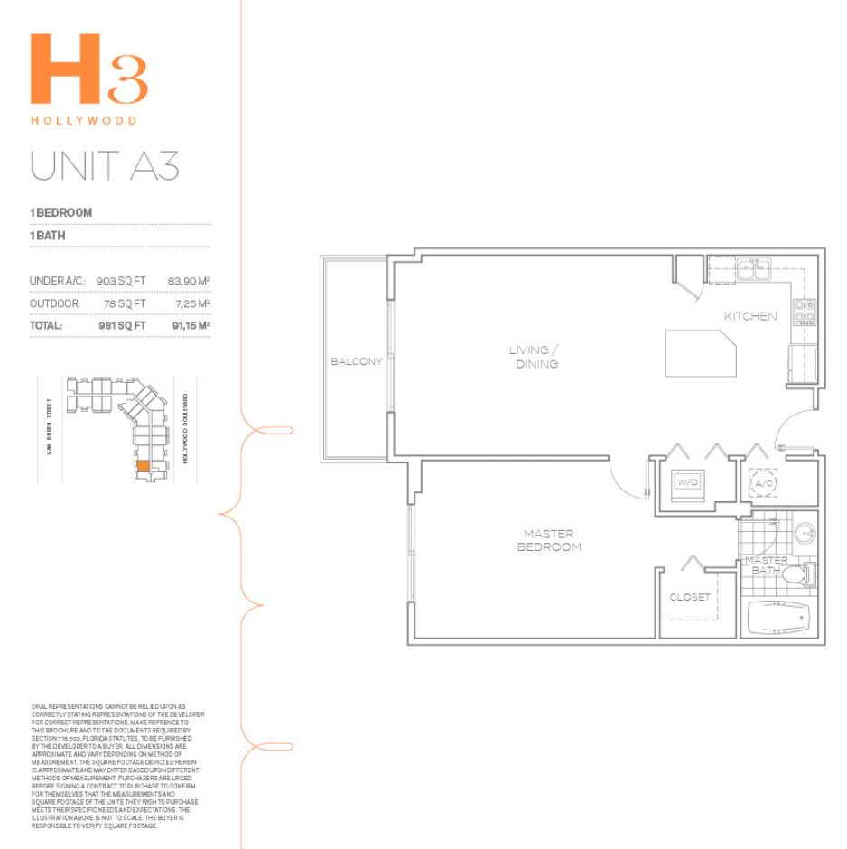 H3 Hollywood - Floorplan 16