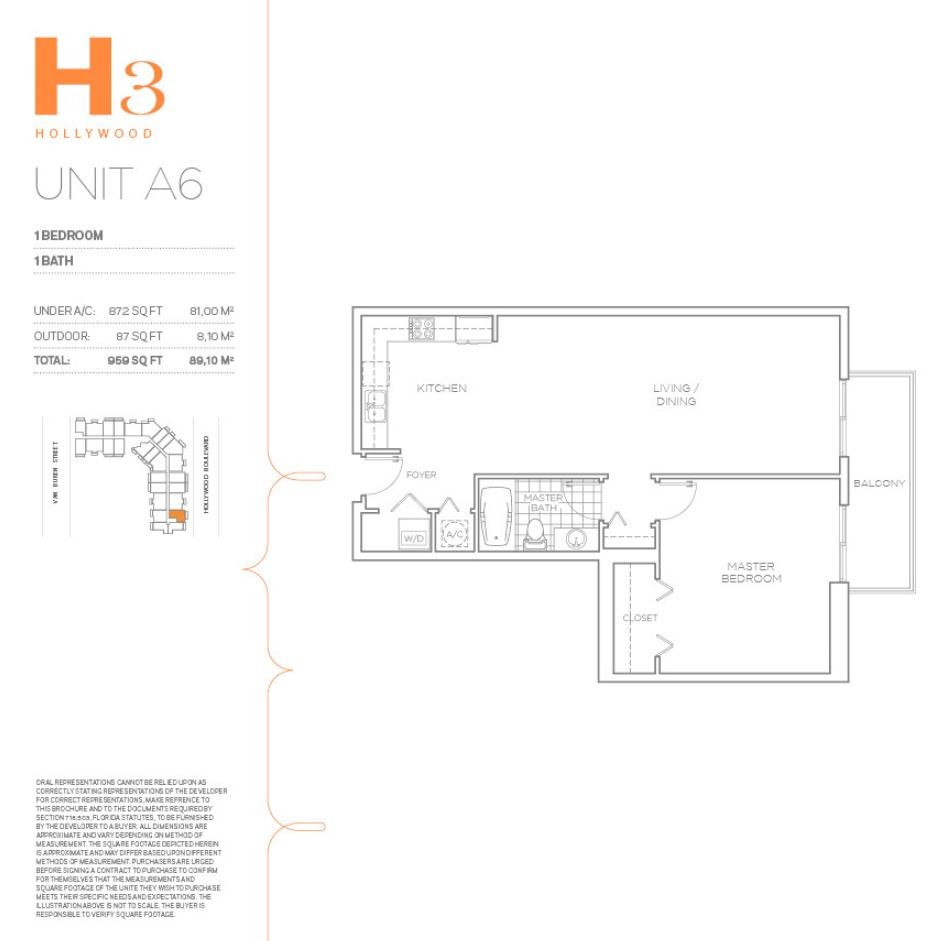 H3 Hollywood - Floorplan 18
