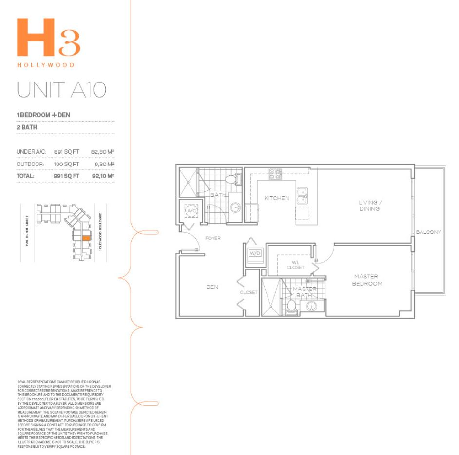 H3 Hollywood - Floorplan 19