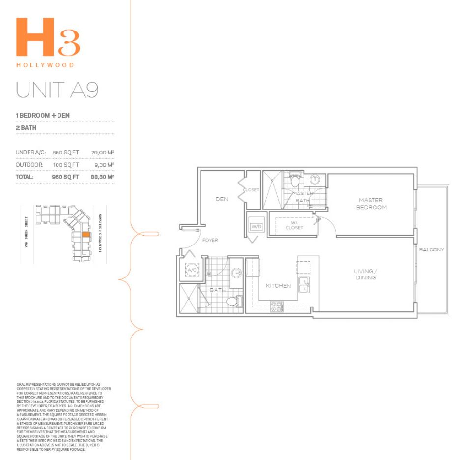H3 Hollywood - Floorplan 21