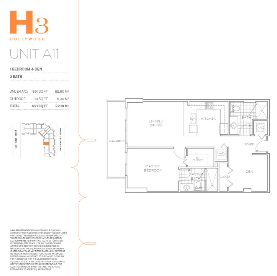 H3 Hollywood - Floorplan 22