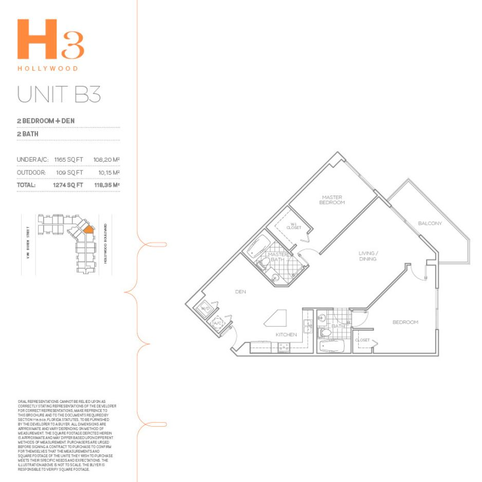 H3 Hollywood - Floorplan 26
