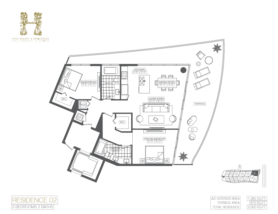 Hyde Beach Resort & Residences - Floorplan 2