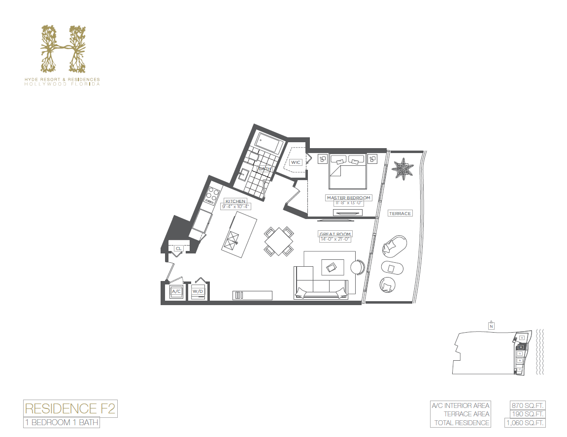 Hyde Beach Resort & Residences - Floorplan 3