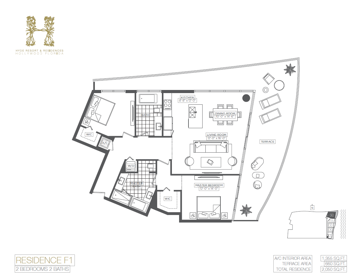 Hyde Beach Resort & Residences - Floorplan 4